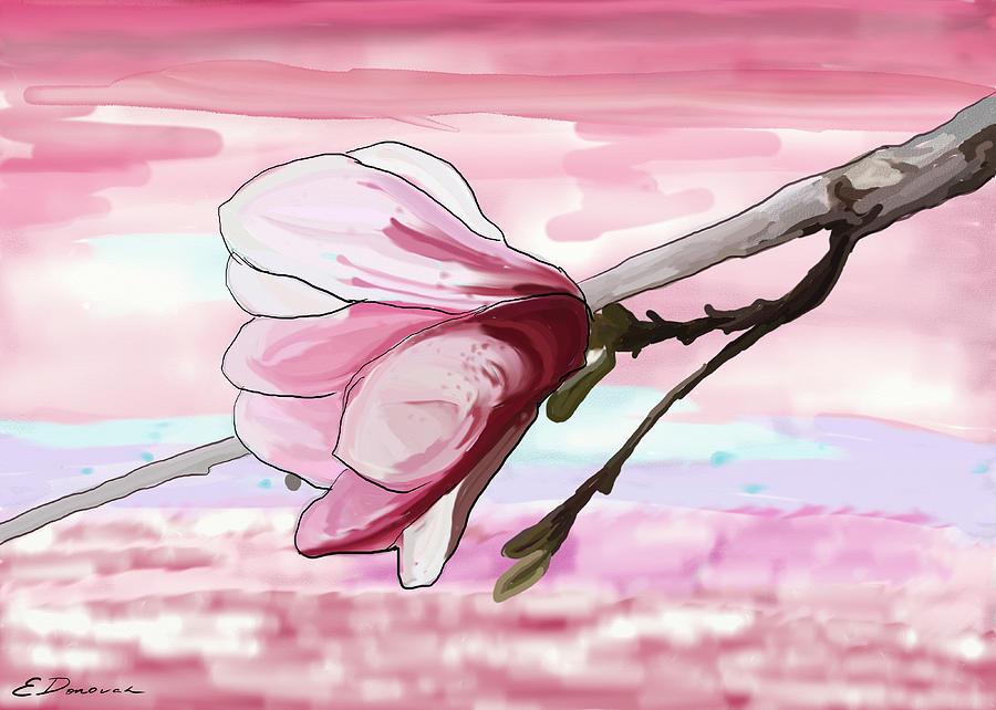 Magnolia Painting - Magnolia Morning by Eliza Donovan