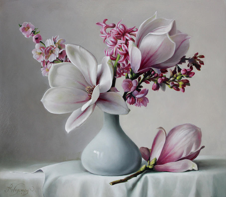 Magnolia Painting by Pieter Wagemans