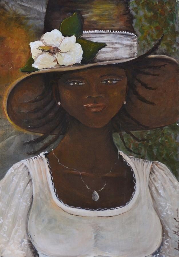 Gullah Painting - Magnolia by Sonja Griffin Evans