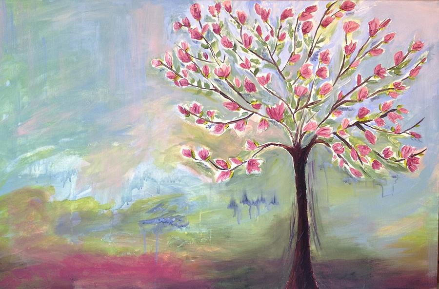Magnolia Tree Painting by Sasha Moye