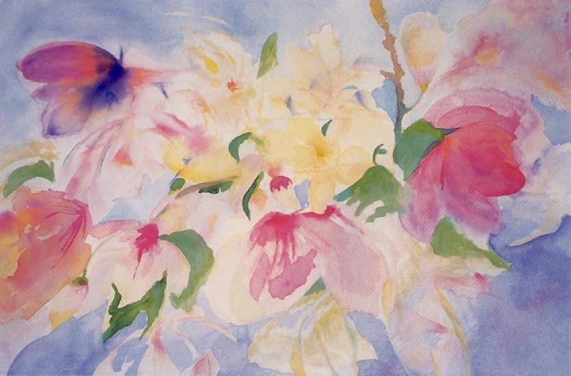 Impressionist Painting - Magnolias by Phoenix Simpson
