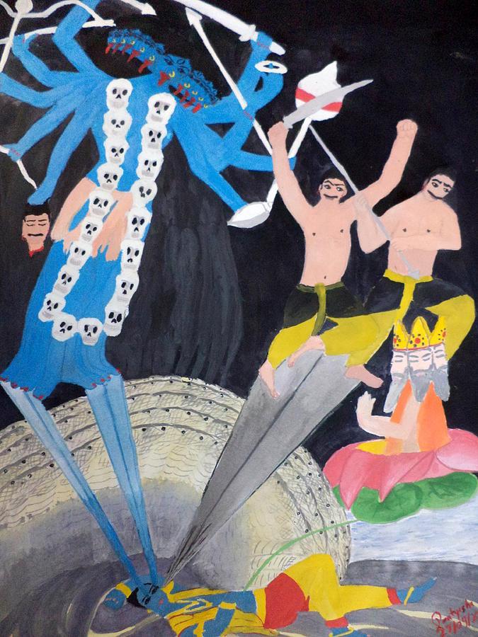 The Great Goddess Painting - Mahakali by Pratyasha Nithin
