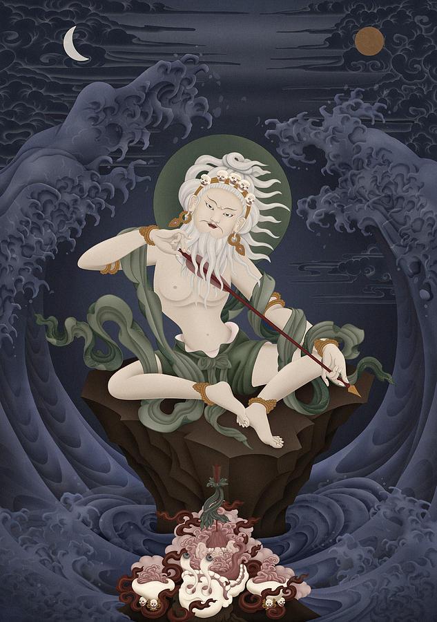 Saraha Painting - Mahasiddha Saraha by Ben Christian
