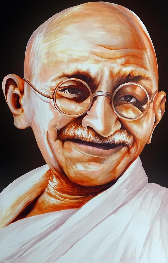 Mahatma Gandhi Painting By Arun Sivaprasad