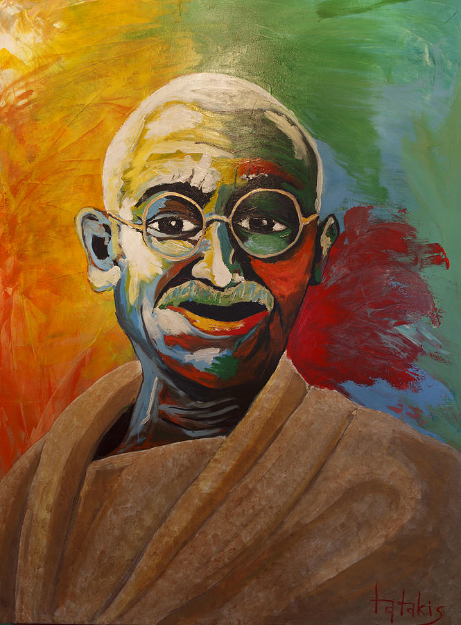 Mahatma Painting - Mahatma by George Tatakis