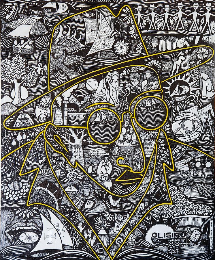 Fernando Pessoa Painting - Mahatma PESSOA by Jose Alberto Gomes Pereira