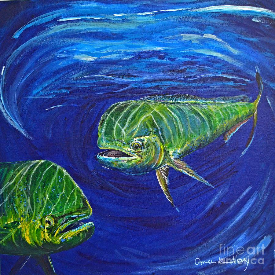 Mahi Painting - Mahi Mahi Couple by Paola Correa de Albury