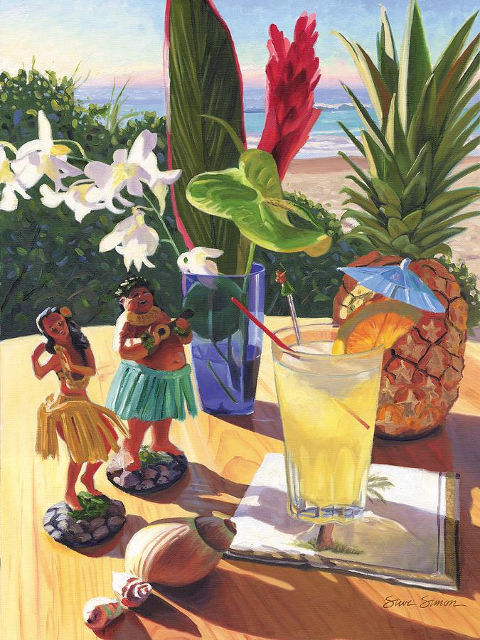 Mai Tai Painting - Mai Tai by Steve Simon