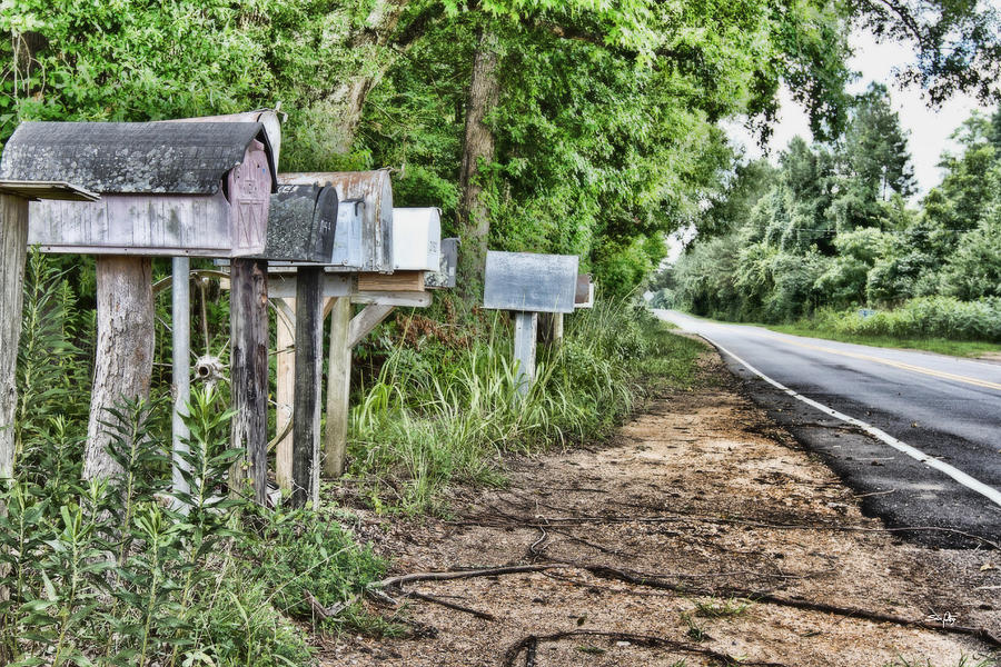 Rural Photograph - Mail Route by Scott Pellegrin