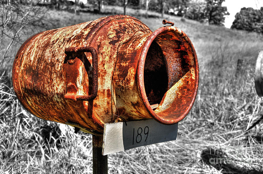 Mailbox Photograph - Mailbox With Character by Kaye Menner