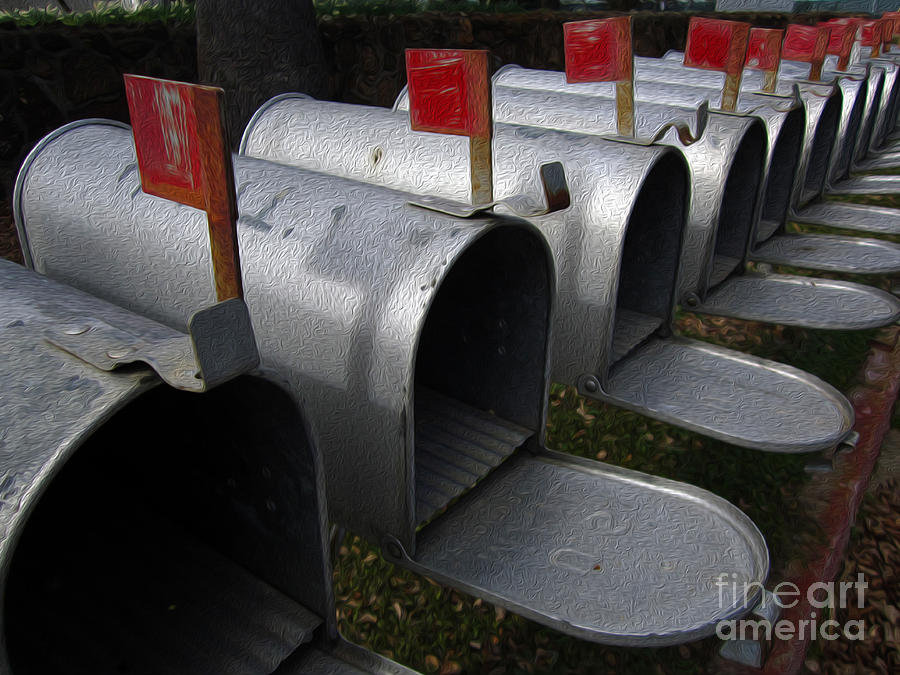 Painting Photograph - Mailboxes by Dan Julien