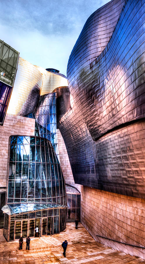 Guggenheim Photograph - Main Entrance Of Guggenheim Bilbao Museum In The Basque Country Spain by Weston Westmoreland