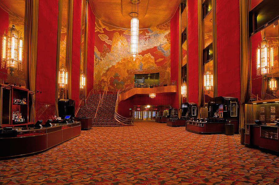 Main Lobby Radio City Music Hall Photograph By Dave Mills