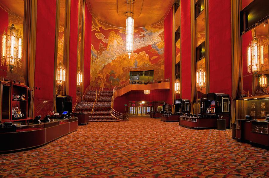 Main Lobby Radio City Music Hall Photograph By Dave Mills