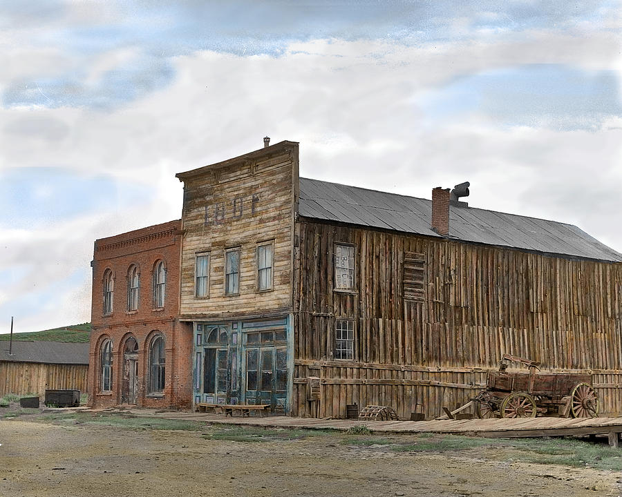 Ghost Towns Photograph - Main Street Bodie by Mel Felix