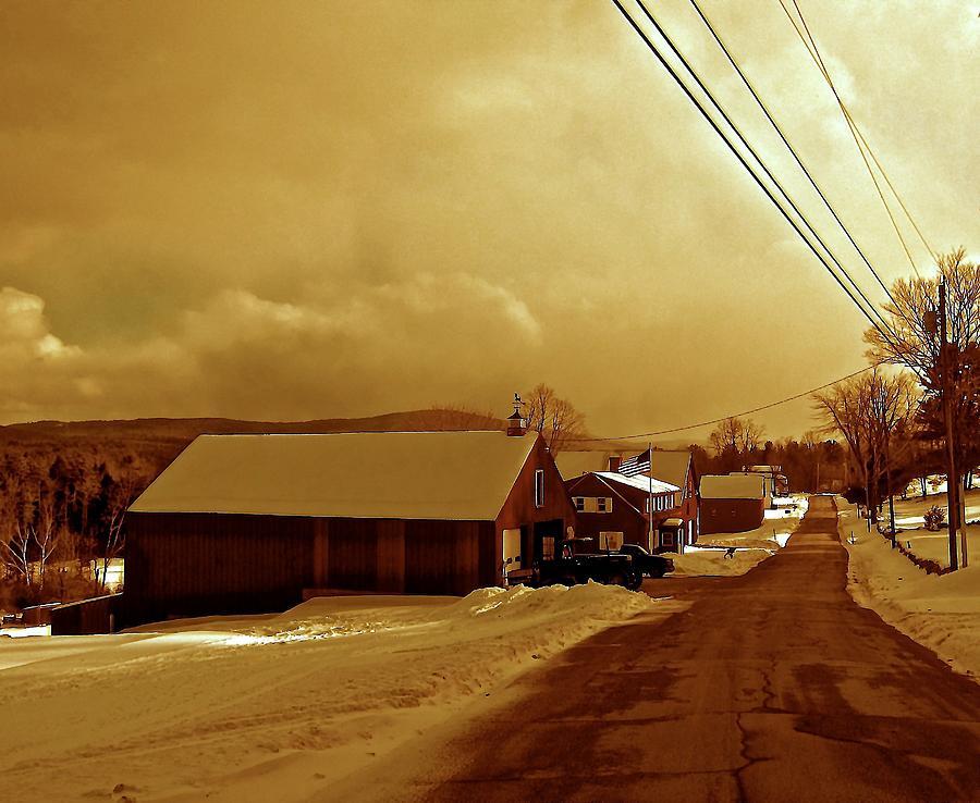 Mountains Photograph - Main Street In Mountain Village by Elizabeth Tillar