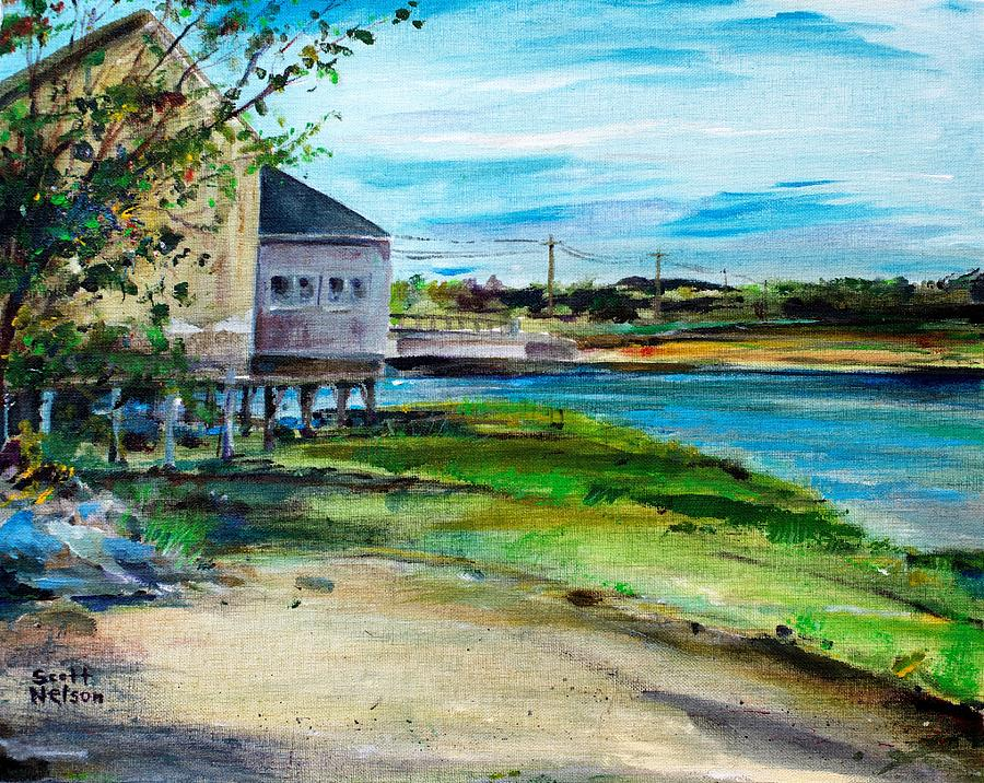 Chowder House Painting - Maine Chowder House by Scott Nelson