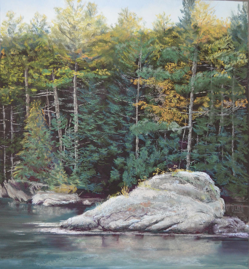 Landscape Painting - Maine Coast October by Lori Bate
