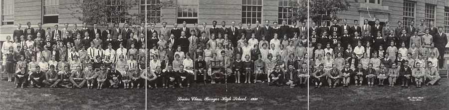 1930 Photograph - Maine High School, 1930 by Granger