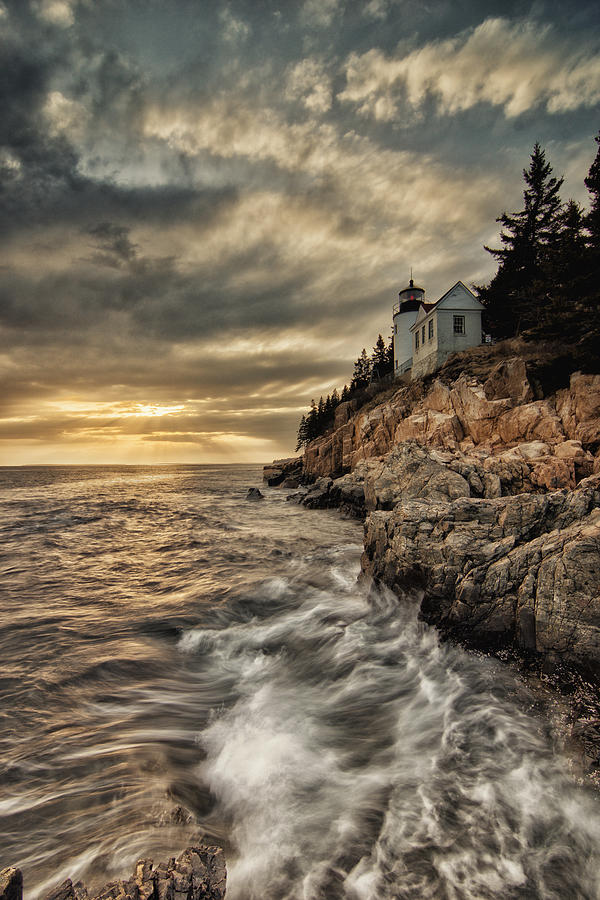 Bass Harbor Lighthouse Photograph - Maine Lighthouse by Chad Tracy