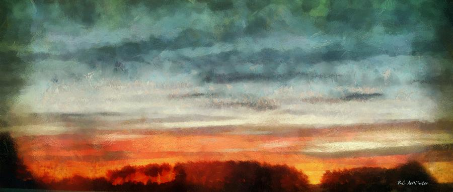 Sky Painting - Maine Sunset by RC deWinter