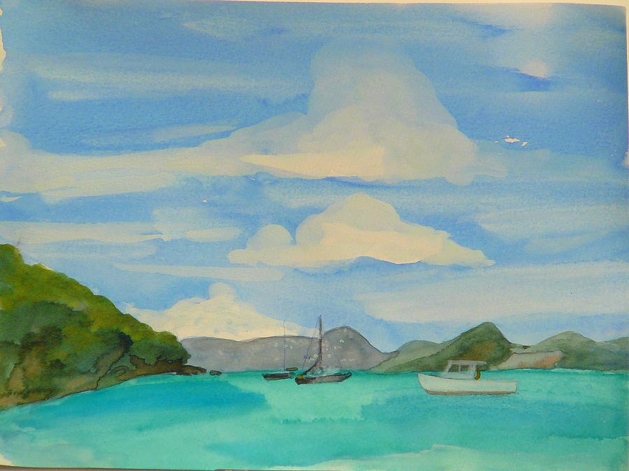Bay Painting - Maine by Valerie Lynch