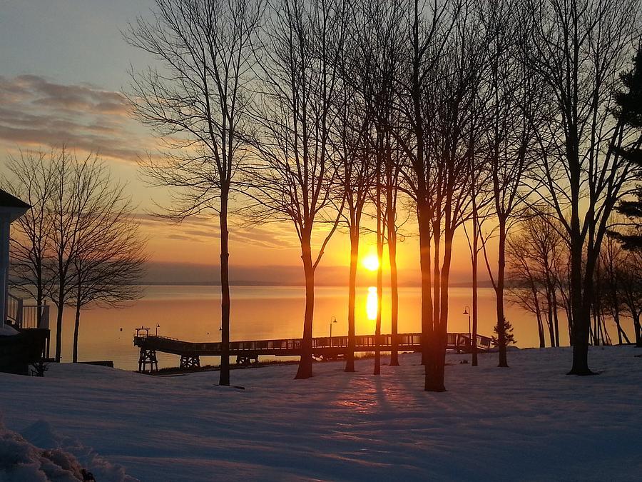 Maine Photograph - Maine Winter Sunrise by Melissa C