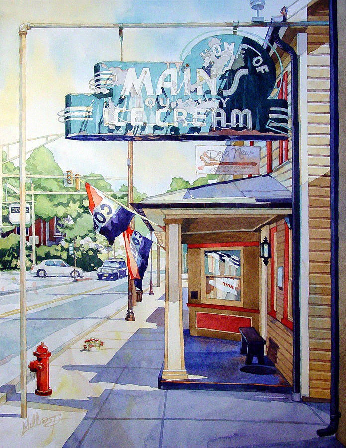 Colorful Painting - Mains Ice Cream by Mick Williams