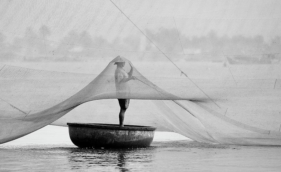 Fisherman Photograph - Maintenance by Wayne Pearson