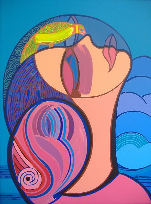 Color Painting - Mairim Dreams by Jose Miguel Perez Hernandez