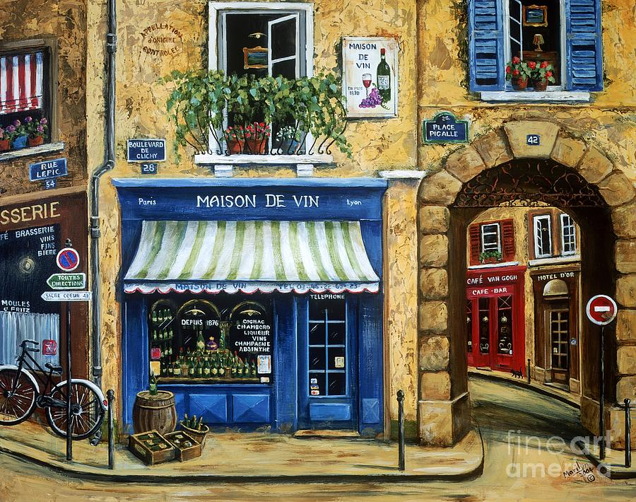 Wine Painting - Maison De Vin by Marilyn Dunlap