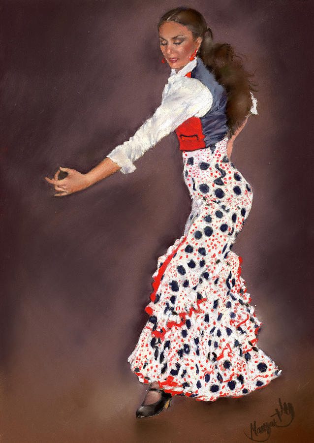 Pastel Painting - Maite by Margaret Merry