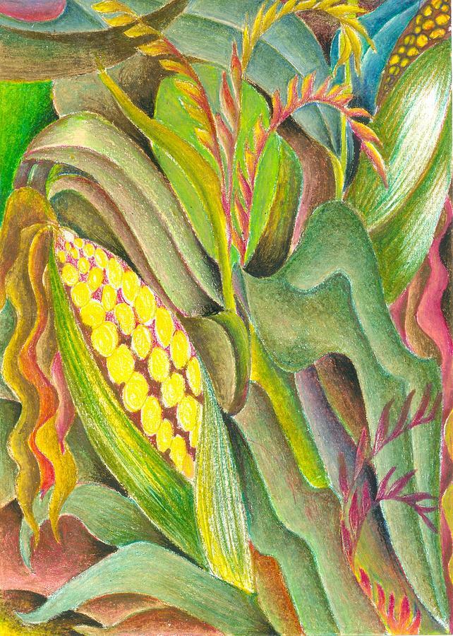 Maize Painting by Jaanaka Kandepola