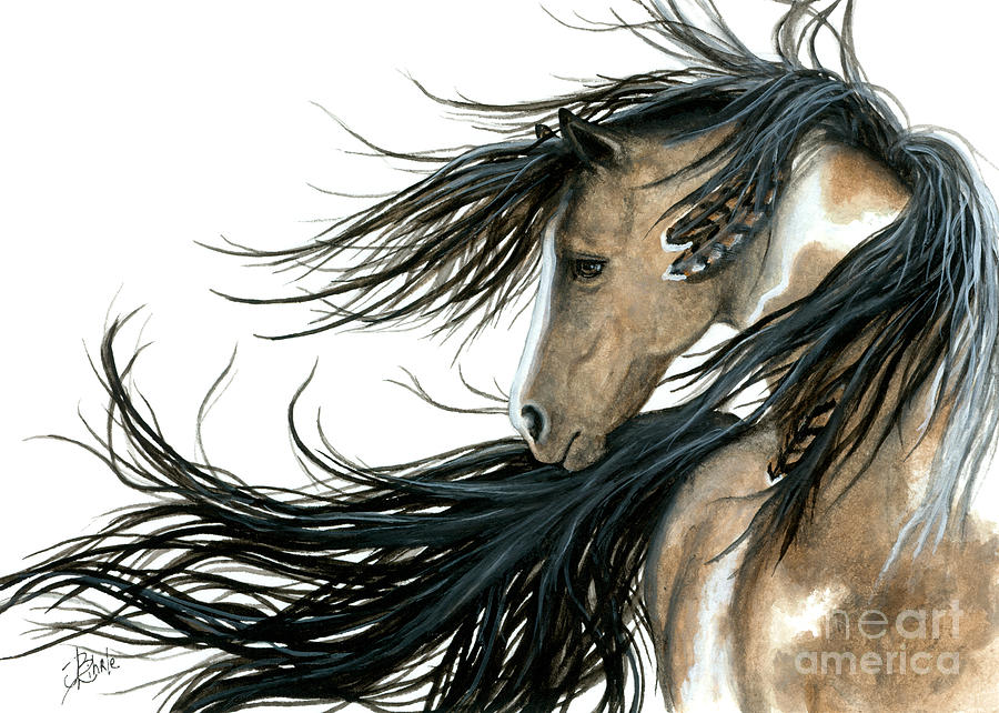 Horse Painting - Majestic Horse 89 by AmyLyn Bihrle