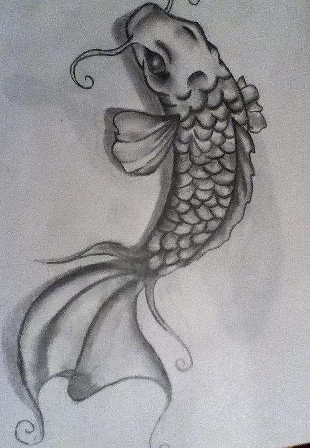 Majestic fish Drawing by Gennah Lamphier