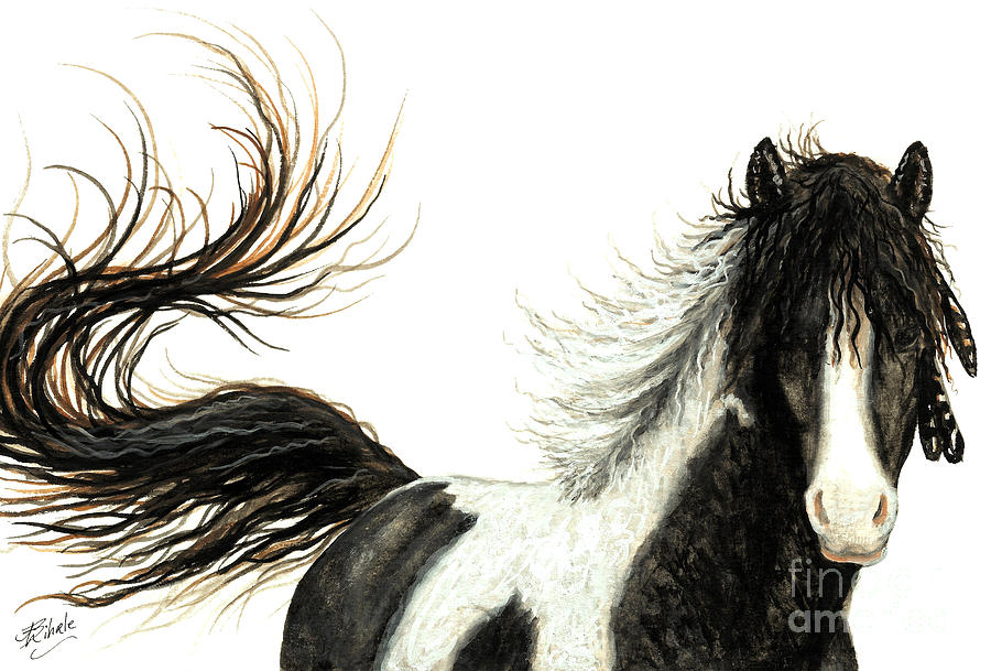 Mustang Painting - Majestic Horse Series #76 by AmyLyn Bihrle