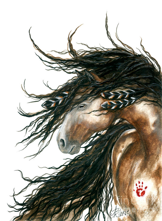 Majestic Pinto Horse 80 Painting