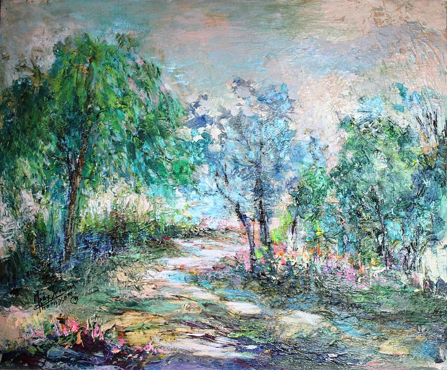Trees Painting - Majestic by Mary Spyridon Thompson