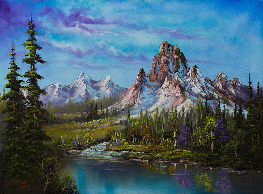 Landscape Painting - Majestic Morning by Chris Steele
