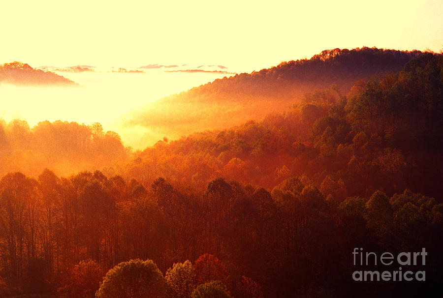 West Virginia Photograph - Majestic Mountain Sunrise by Thomas R Fletcher
