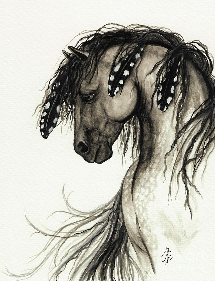 Curly Horse Breed Painting - Majestic Mustang Horse Series #51 by AmyLyn Bihrle