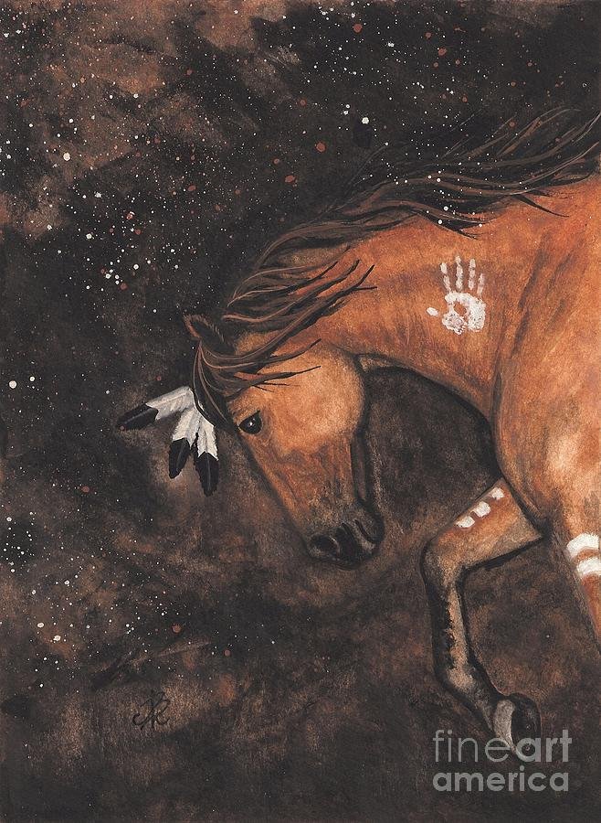 Pet Portraits Painting - Majestic Mustang Series 40 by AmyLyn Bihrle