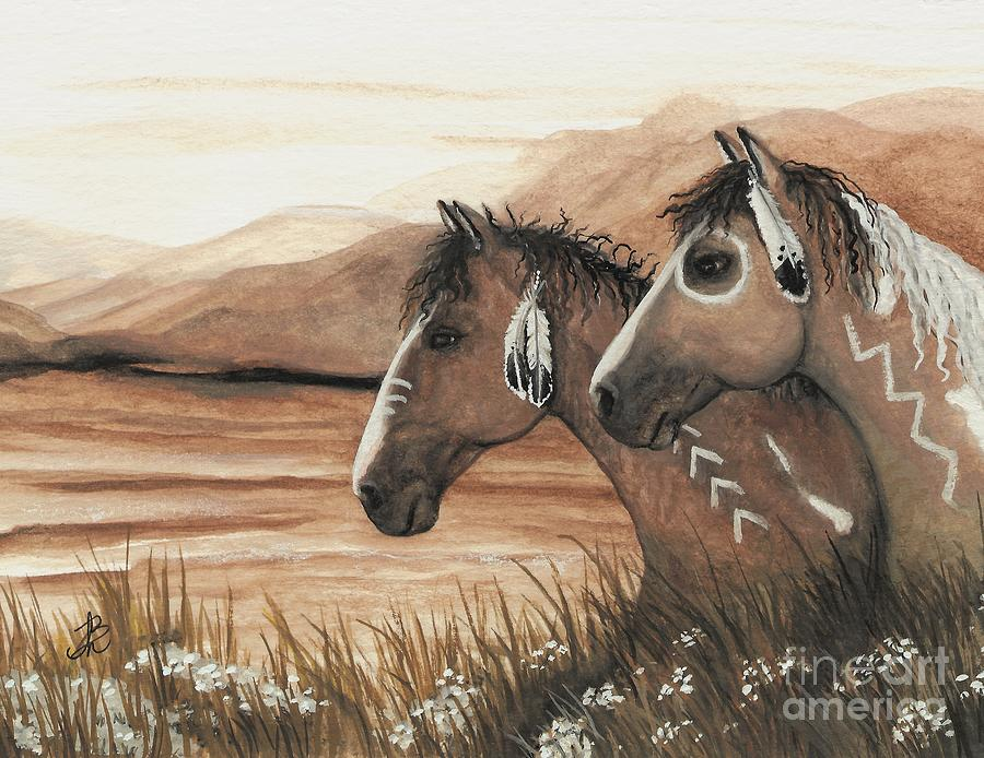 Painted Feathers Painting - Majestic Mustang Series 42 by AmyLyn Bihrle