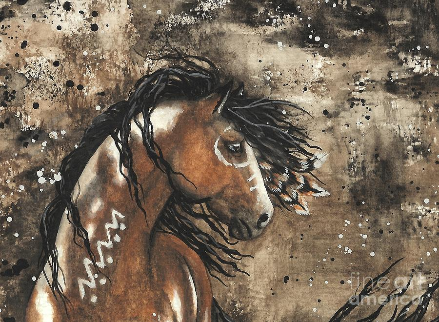 Curly Horse Painting - Majestic Mustang Series 61 by AmyLyn Bihrle