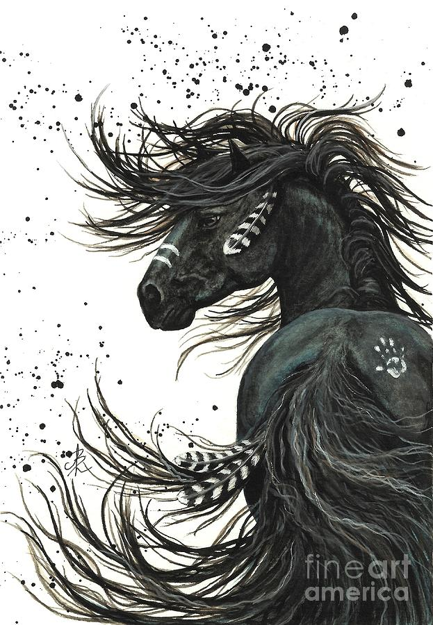 Mustang Painting - Majestic Spirit Horse  2 by AmyLyn Bihrle