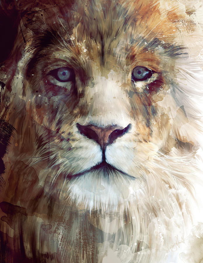Lion Painting - Majesty by Amy Hamilton