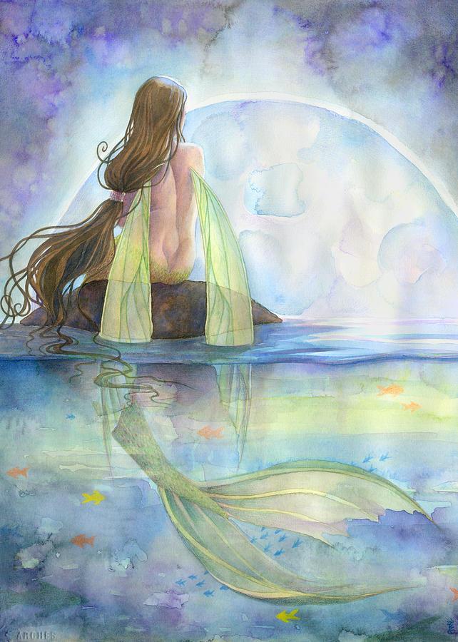 Mermaid Painting - Majesty by Sara Burrier