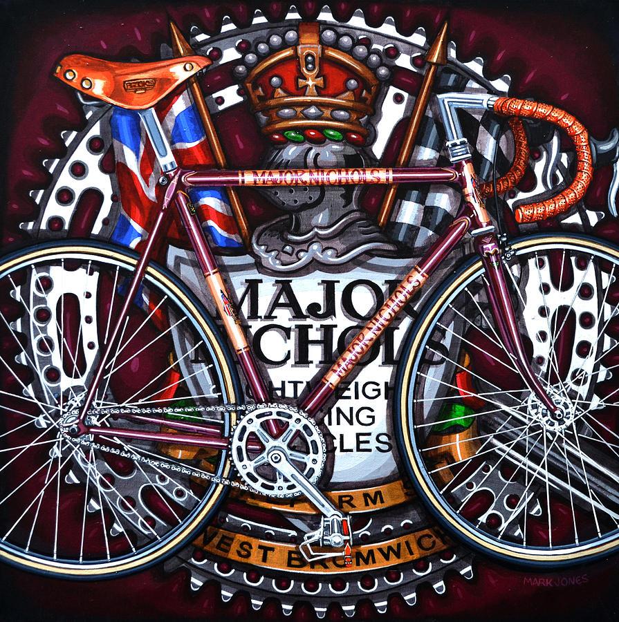 Bicycle Painting - Major Nichols by Mark Jones