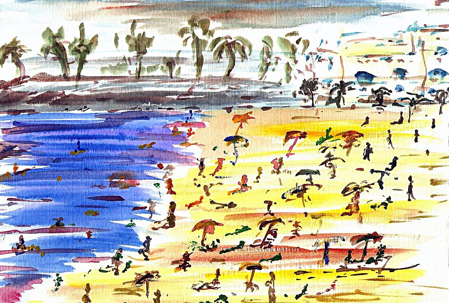 Playa Painting - Majorca Playa by Anthony Fox