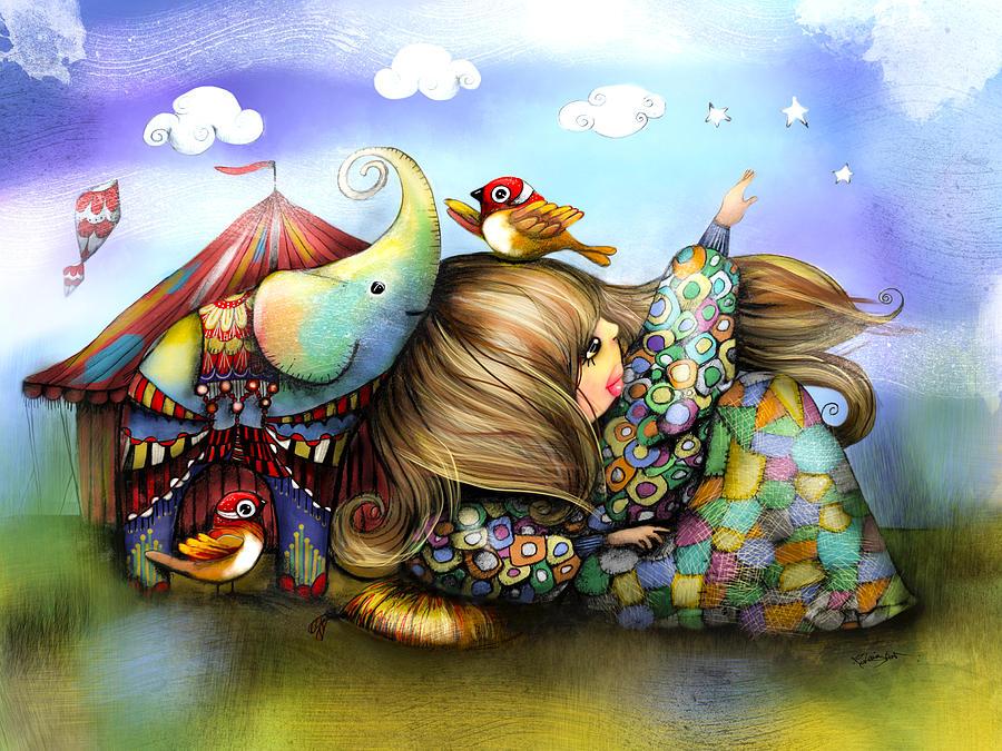 Prints Painting - Make A Wish by Karin Taylor